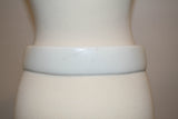 1970s Vintage White Belt with Oversized Buckle - Vintage Swag Chics
