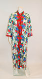 Vintage Floral Floor Length Robe/ Housecoat