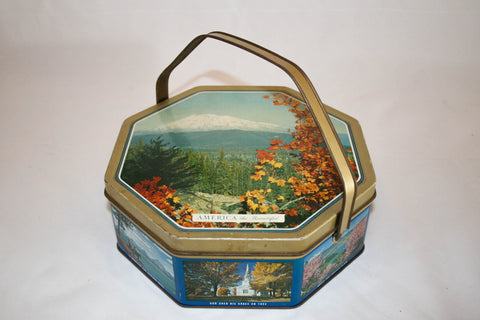 Vintage America the Beautiful Sunshine Biscuit TIn