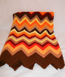 Beautiful Vintage Chevron Patterned Afghan - Vintage Swag Chics