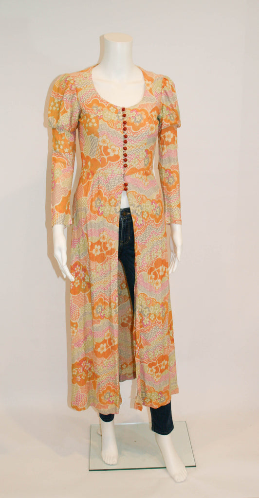 Mod 1960s Vintage Maxi Duster - Vintage Swag Chics