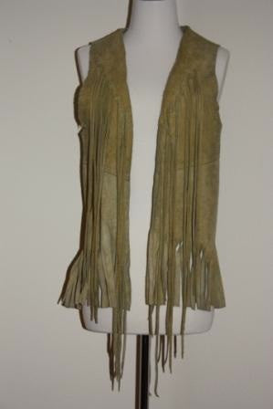 60's Fringed Leather Vest