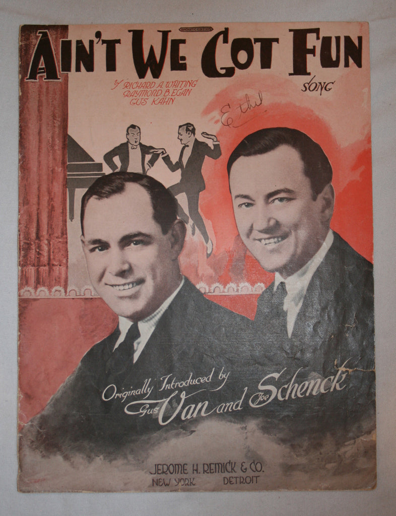 Ain't We Got Fun Sheet Music - Vintage Swag Chics