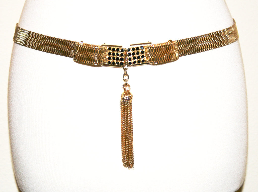 Sharra Tagano Woven Metal Belt - Vintage Swag Chics