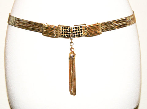 Sharra Tagano Woven Metal Belt