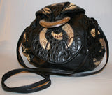 1980's Leather & Reptile Patchwork Purse - Vintage Swag Chics