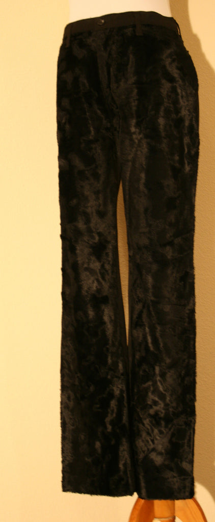 AUTHENTIC, FANCY AND FASHIONABLE VERTIGO FAUX FUR front Jean Cut Pants - Vintage Swag Chics