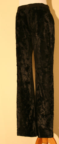 AUTHENTIC, FANCY AND FASHIONABLE VERTIGO FAUX FUR front Jean Cut Pants
