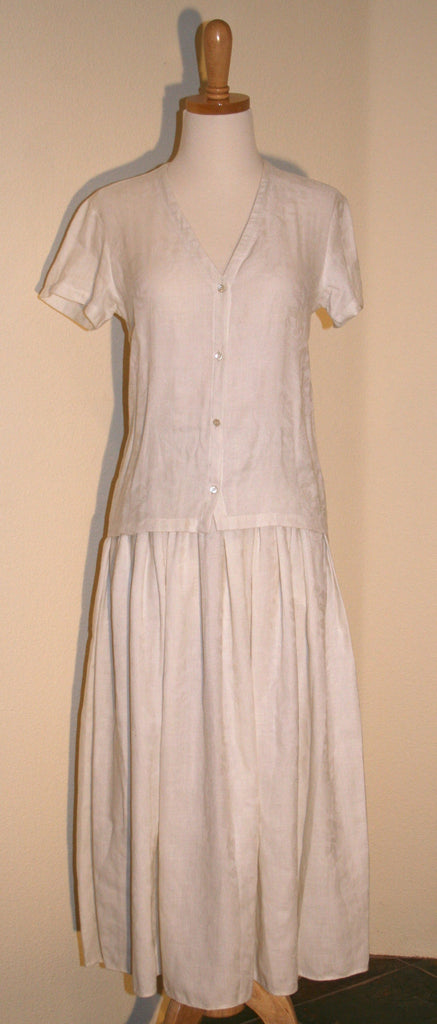 Calvin Klein Linen Blouse and Skirt - Vintage Swag Chics