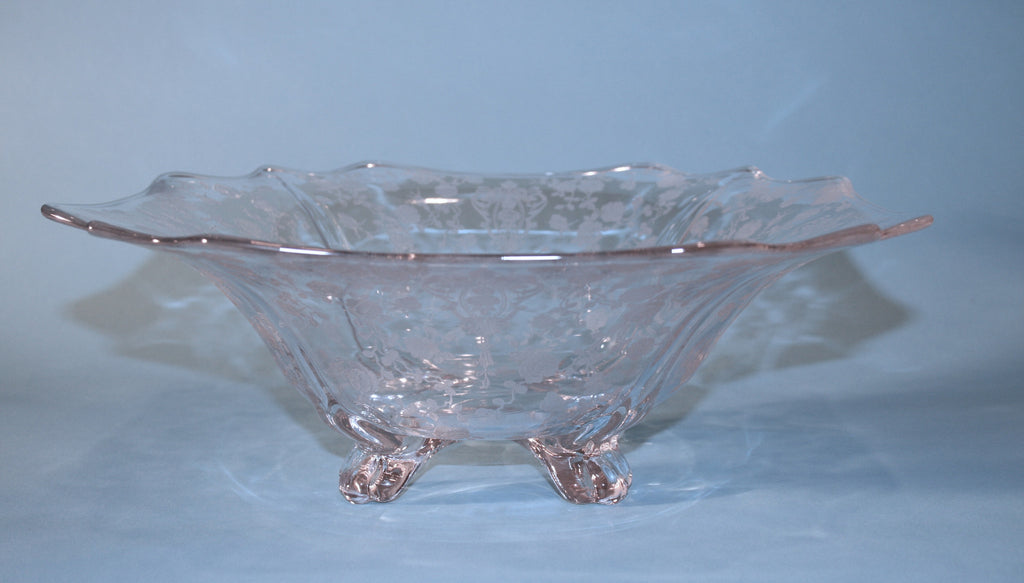 Cambridge Glass Footed Bowl - Vintage Swag Chics