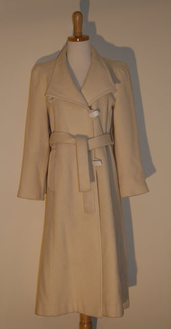1970's Cream Wool Coat