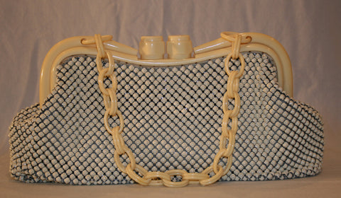 1940's Whiting and Davis Deco Purse