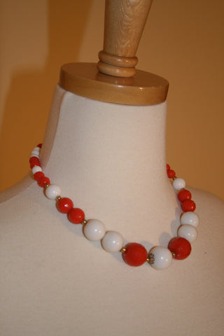 1960's Perfect Plastic Bead Necklace