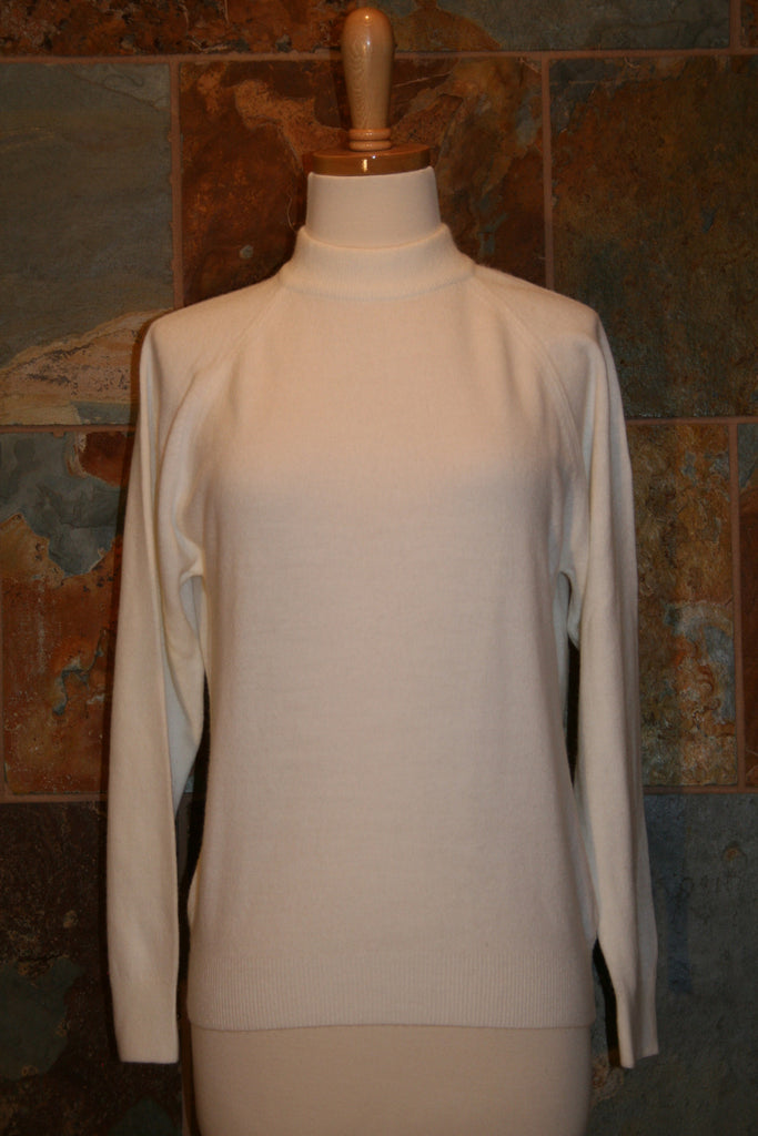 Cream Sweater Turtleneck - Vintage Swag Chics