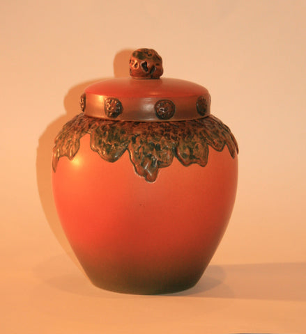 Vintage Danish Ceramic Lidded Vase