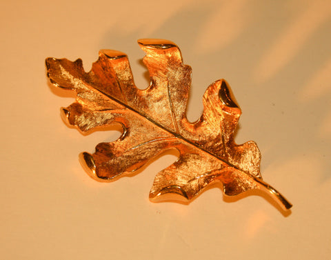 Golden Fall Leaf Pin