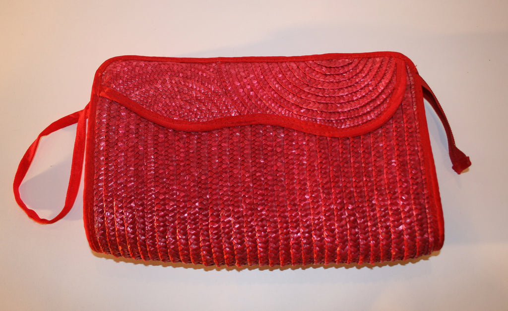 Watermelon Woven Straw Clutch - Vintage Swag Chics