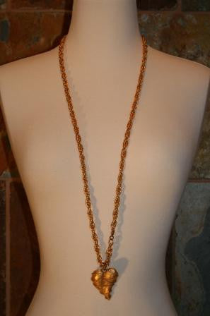 70's A Heart of Gold Necklace - Vintage Swag Chics