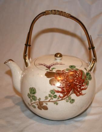 Vintage Handpainted Asian Teapot