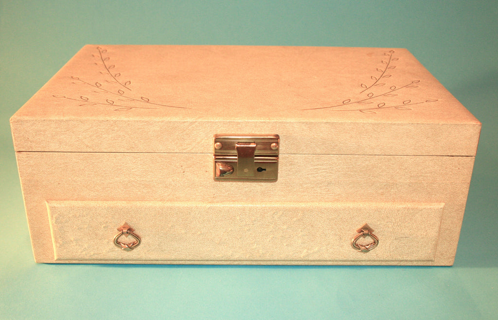 1970's Faux Leather Jewelry Box - Vintage Swag Chics