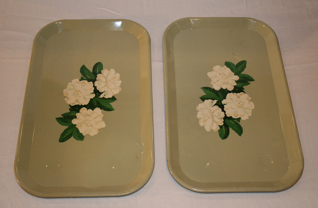 Vintage Metal Snack Trays