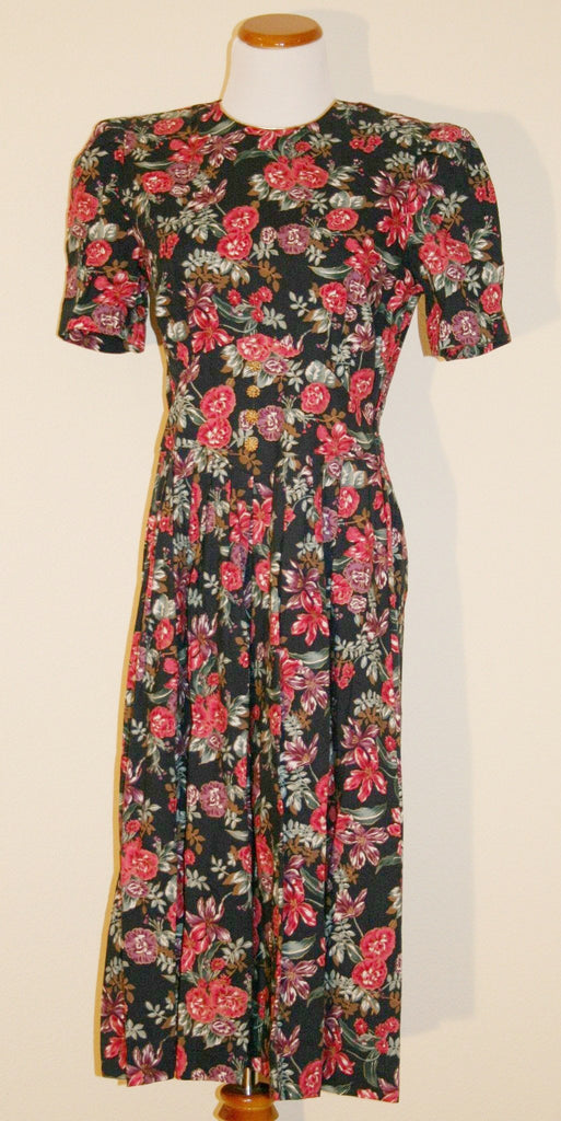 80's Floral Miss Darby Dress - Vintage Swag Chics