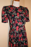 80's Floral Miss Darby Dress