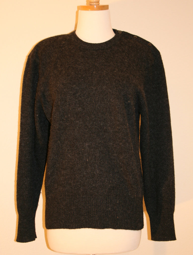 80's Cashmere Crewneck Sweater - Vintage Swag Chics