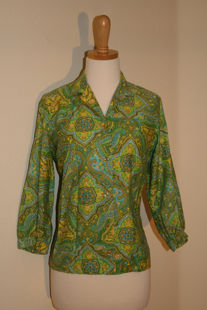 1950's Alfred Paquette of California Blouse - Vintage Swag Chics