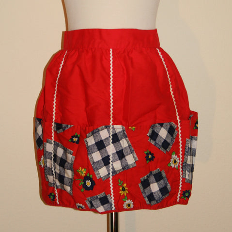 Red Pocket Apron