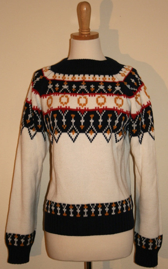 1970's Ski Sweater - Vintage Swag Chics
