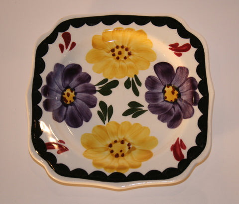 1930's Southern Potteries, Blue Ridge Square Plate