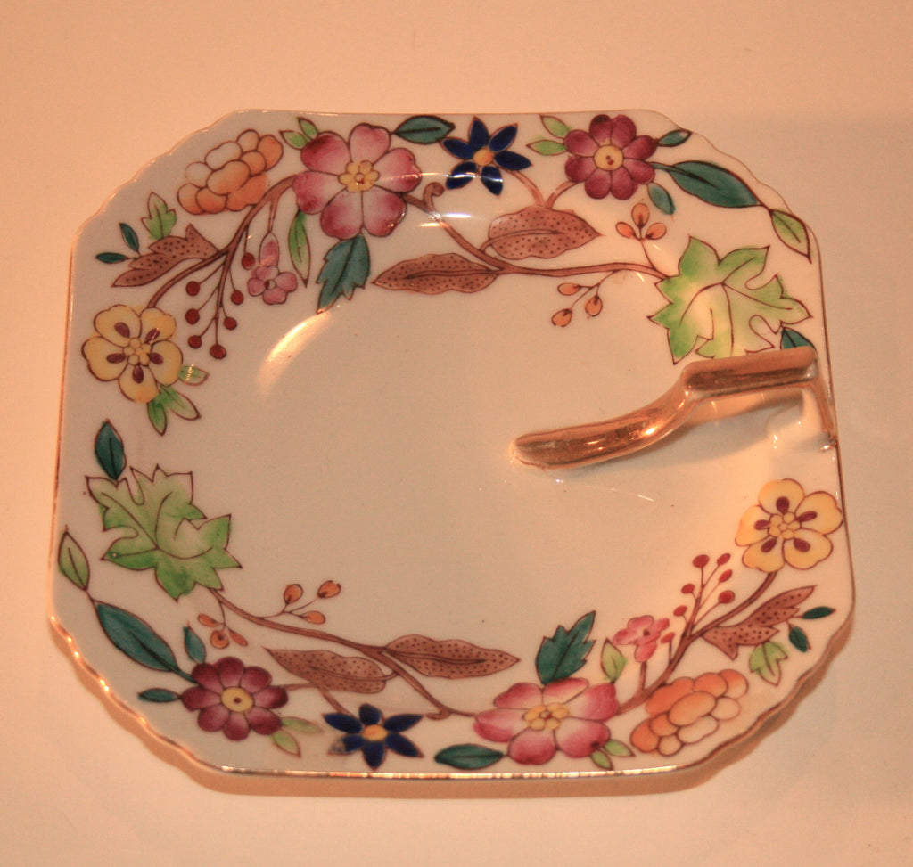 Hand Painted Square Trinket Plate - Vintage Swag Chics