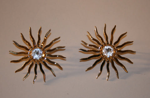 1960s Sunburst Earrings