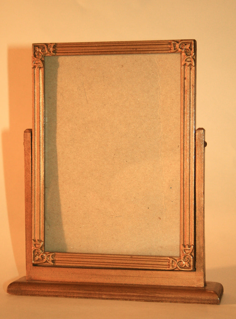 1930s Wooden Swivel Table Top Frame - Vintage Swag Chics