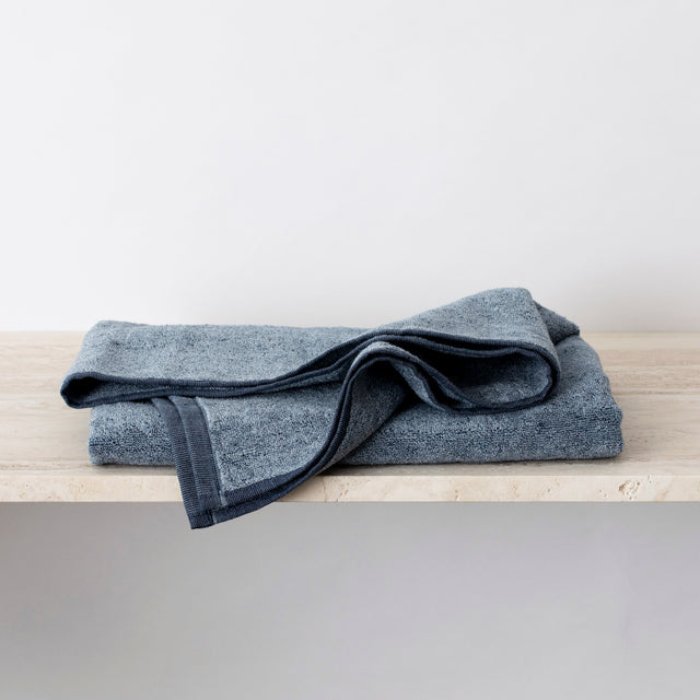 Folded Denim Bath Towel
