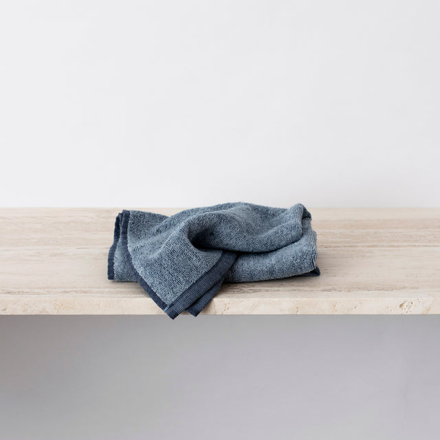 Folded Denim Hand Towel