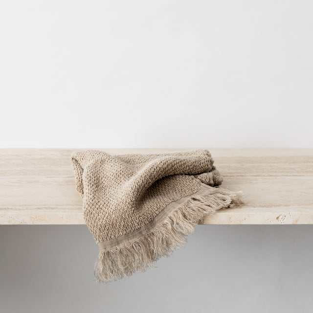 Pure Linen Hand Towel in Natural
