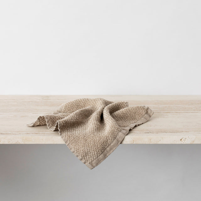 Pure Linen Wash Cloth in Natural