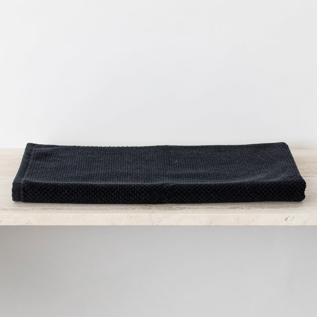Black 100% Cotton Bath Mat