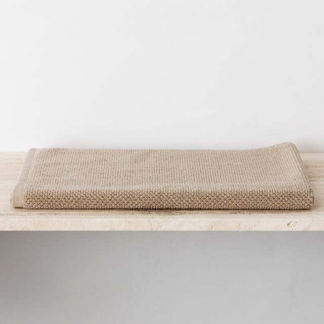 100% Cotton Bath Mat in Natural