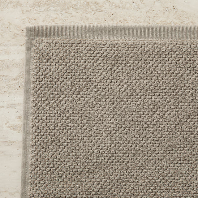 100% Cotton Bath Mat in Natural Corner Detail