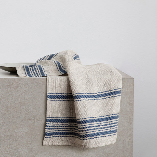 Turkish Tea Towel - Navy Stripe