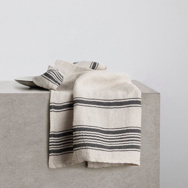 Turkish Tea Towel - Black Stripe