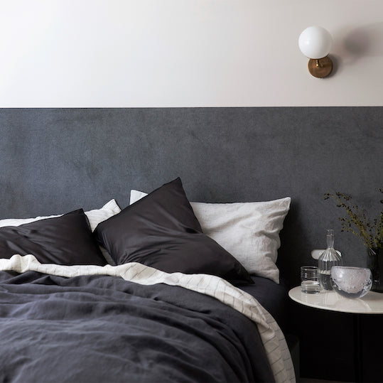 Silk Linen Flip Pillowcase - Slate