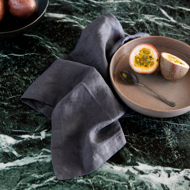 Linen Table Napkins - Slate