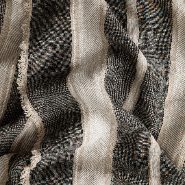 Close up on the Mira Linen Throw in Enzo