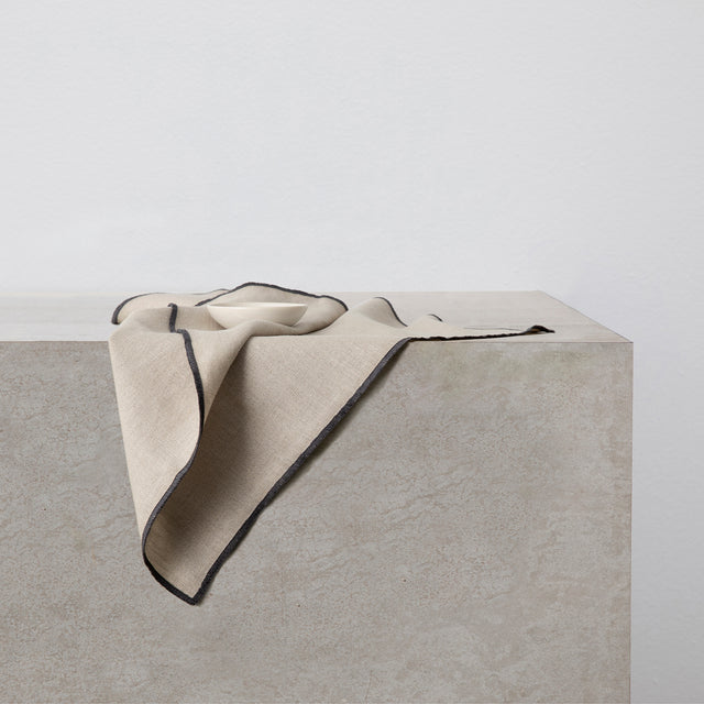 Cara Edged Napkin in Slate