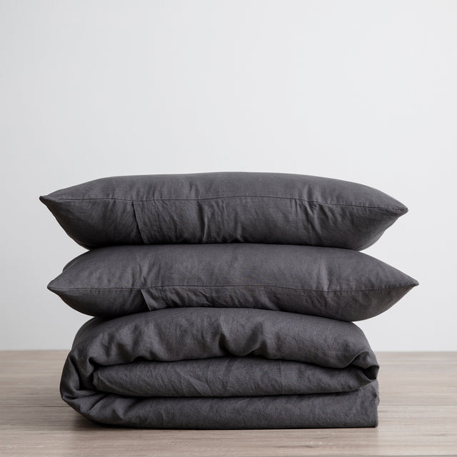 Linen Duvet Cover Set - Slate