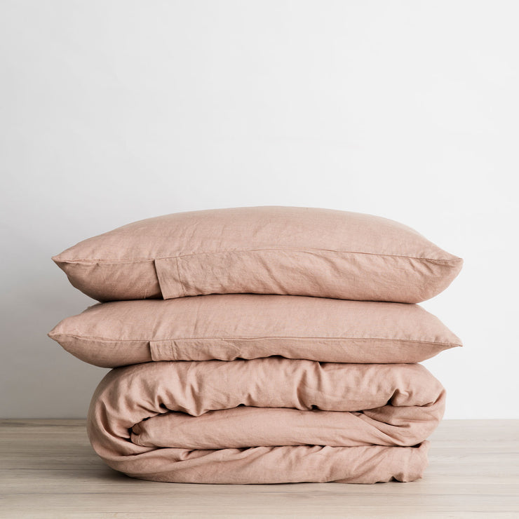 Linen Duvet Cover Set - Fawn